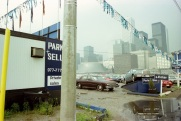 Toronto, skyline, car lot, 1982,